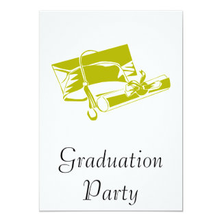 Gold Cap & Diploma 13 Cm X 18 Cm Invitation Card