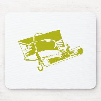 Gold Cap Diploma Mouse Pads