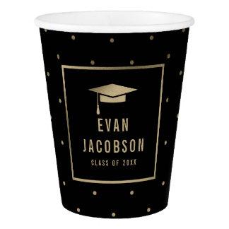 Gold Cap EDITABLE COLOR Graduation Paper Cup