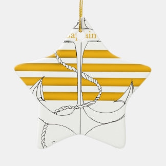 gold captain, tony fernandes ceramic star decoration