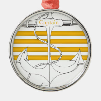 gold captain, tony fernandes Silver-Colored round decoration