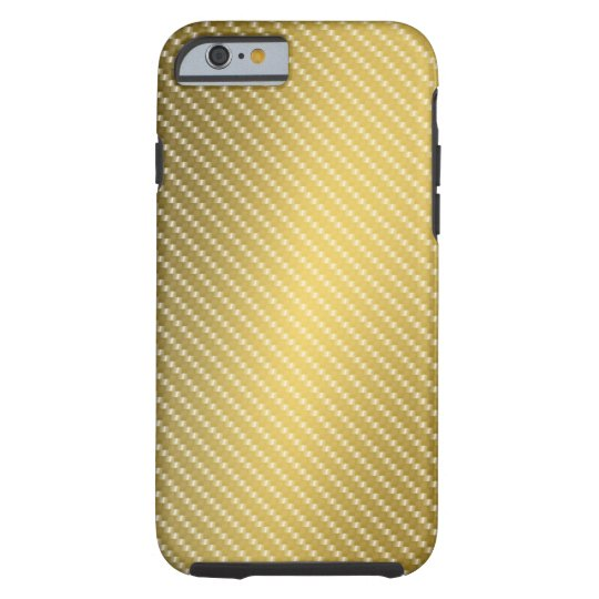 Gold Carbon Fibre Pattern Base Tough iPhone 6
