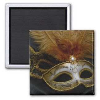 Gold Carnival Venetian Mask Masquerade Magnet