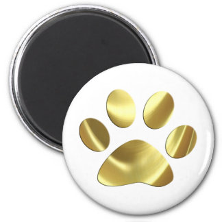 Gold Cat Paw Print Fridge Magnets