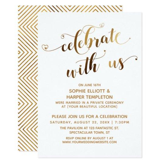 Celebration co Post-wedding With Zazzle Invitation uk