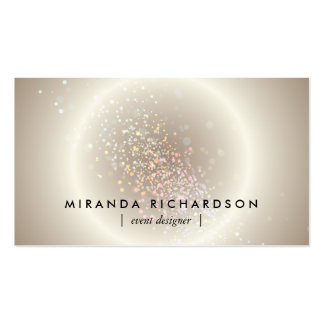 Gold Celestial Confetti Circle Event Planner Pack Of Standard Business Cards