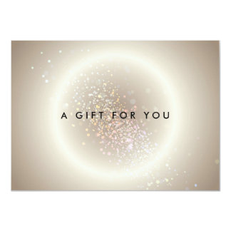 Gold Celestial Confetti Circle Gift Certificate Card