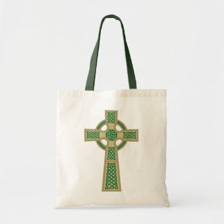 Gold Celtic Cross Tote Bag