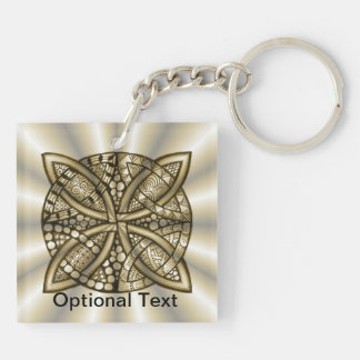 Gold Celtic Knot Original Artistic Design Acrylic Key Chain