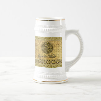 Gold Celtic Symbolic Joyful Holiday Stein Beer Steins