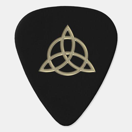 Gold Celtic Trinity Circle Knot Guitar Pick