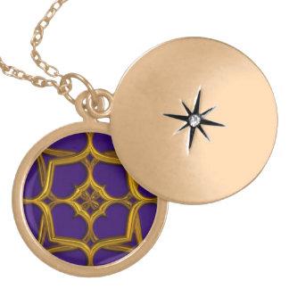 Gold Celtic Weave On Purple Background Custom Jewelry