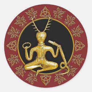 Gold Cernunnos Holly Tri-quatra 3 - Sticker