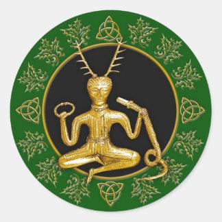 Gold Cernunnos Holly Tri-quatra 7 - Sticker