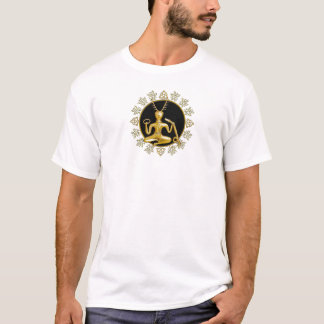Gold Cernunnos, TriQuatra, & Holly - T-Shirt