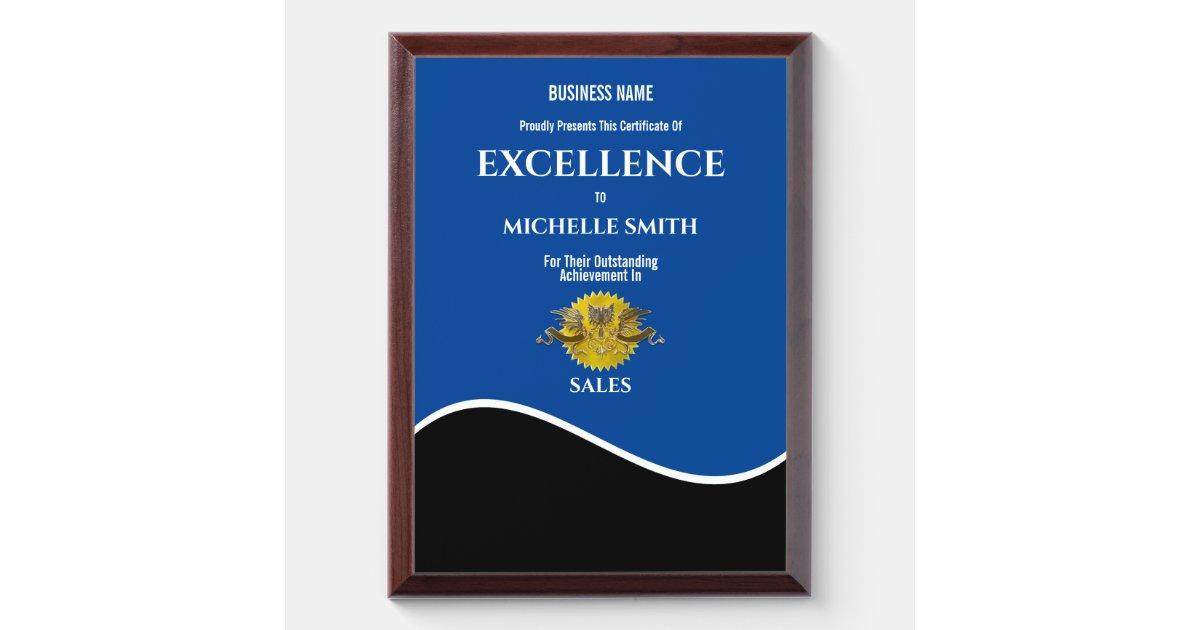 crest award certificate personalize