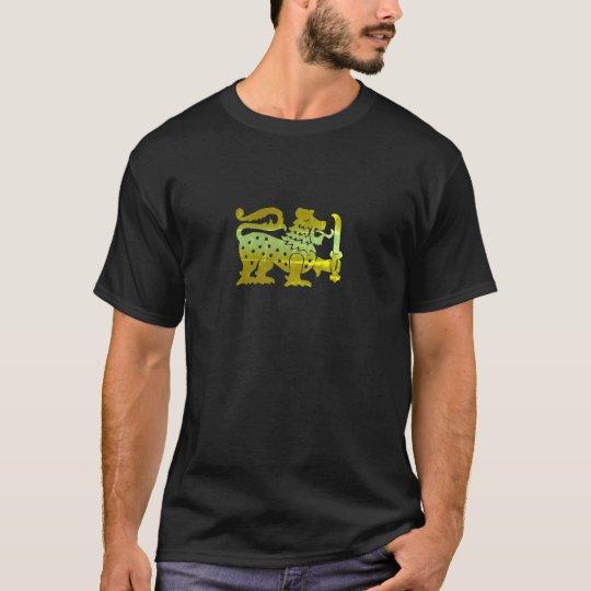 Gold Ceylon Lion T-Shirt