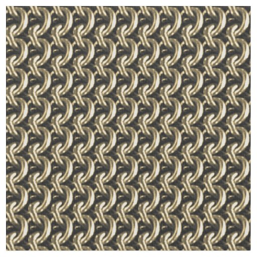 Gold Chainmaille Print Goth Pattern Fabric