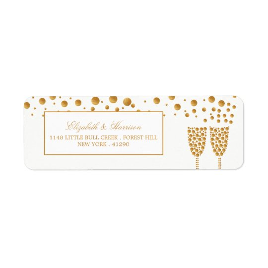 Gold Champagne Bubbles Wedding