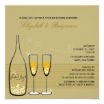 Gold Champagne Bubbles Wedding Couples Shower Personalised Announcements