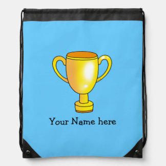 gold champion trophy cup - add name backpack
