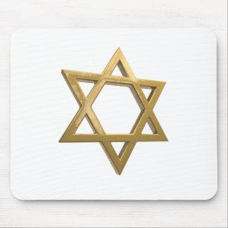 gold chanukkah star of david mouse pad