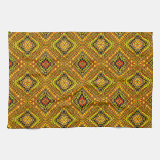 Gold Checkered Tea Towel