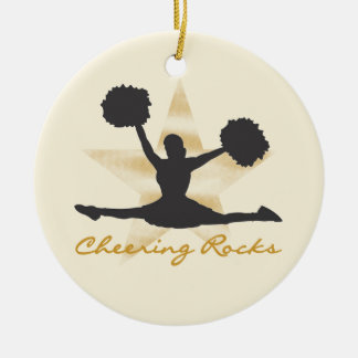 Gold Cheering Rocks T-shirts and Gifts Christmas Ornament
