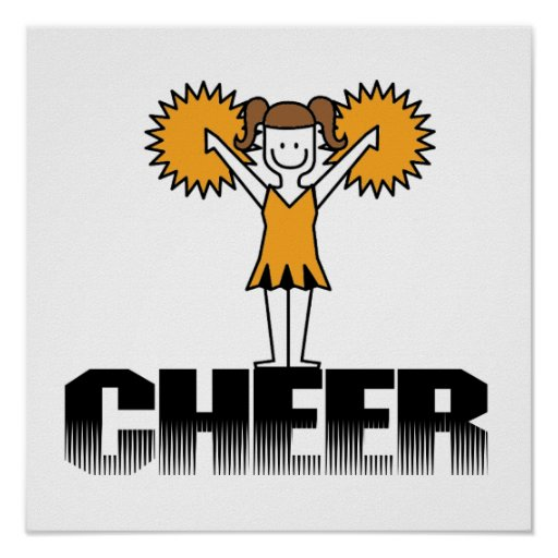 Gold Cheerleading T-shirts and Gifts Poster