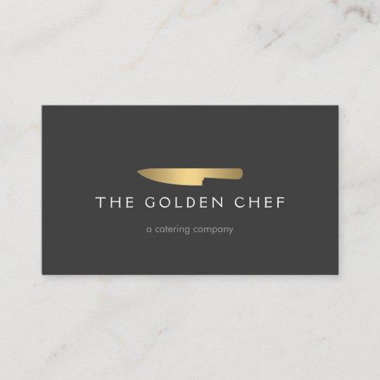 Gold chef knife logo 2 for catering restaurant business card gold chef knife logo 2 for catering restaurant business card reheart Image collections