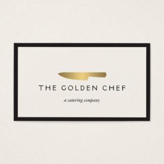 Gold Chef's Knife Logo for Catering, Restaurant II