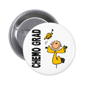 Gold CHEMO GRAD 1 (Childhood Cancer) 6 Cm Round Badge