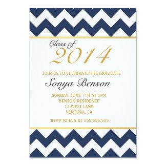 Gold Chevron Class of 2014 Graduation Invitation