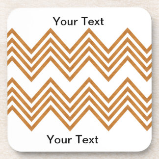 Gold Chevron Coaster