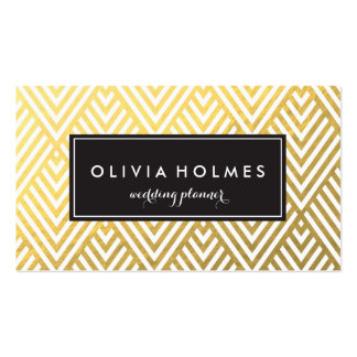 Gold Chevron Pattern Business Card