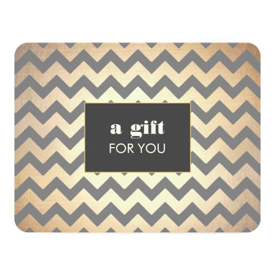 Gold Chevron Pattern Salon & Spa Gift Certificate