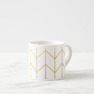 Gold Chevron White Background Modern Chic Espresso Mug