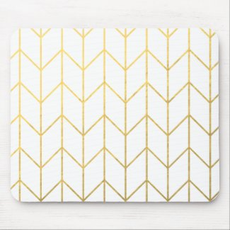Gold Chevron Mouse Mat