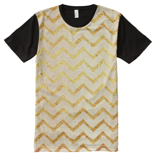 Gold Chevrons Faux Foil Glitter Background Chevron All-Over