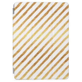 Gold Chevrons Faux Foil Metallic Chevron Pattern iPad Air Cover