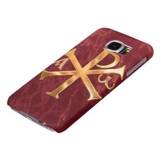 Gold Chi-Rho Samsung Galaxy S6 Cases