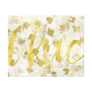 Gold Chic Canvas Print