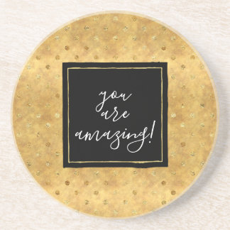 Gold Chic Dots Coaster