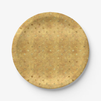 Gold Chic Dots Paper Plate