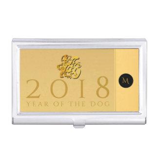 Gold Chinese Dog Papercut 2018 Monogram C Holder