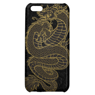 Gold Chinese Dragon iPhone 5C Covers