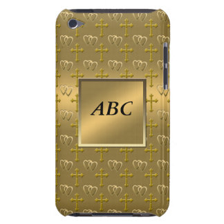 Gold Christian Love Barely There iPod Cases