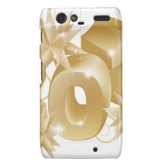 Gold Christmas 2013 Ornaments Droid RAZR Covers