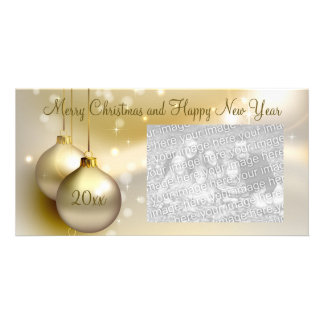 Gold Christmas Balls on Gold Card