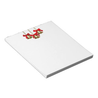 Gold Christmas Bells Notepad